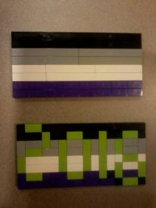 Asexual Awareness Week 2016 Lego flags.